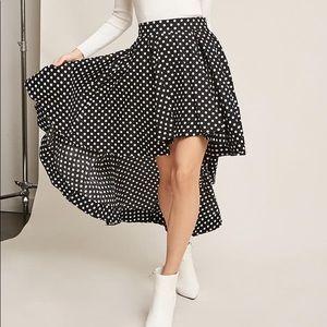 Forever 21 High-Low Polka Dot Skirt